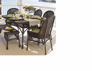 PIER 1 OUTDOOR DINING CHAIRS WITH CUSHIONS