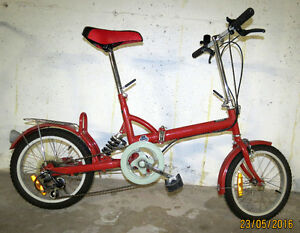 Easy Cruiser 5 speed folding bike – 16 inch wheels – $80.00