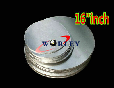 16 Inch Dia. 405mm Aluminum Disc Circle Blank Plate Flat Sheet Round 2mm Thick