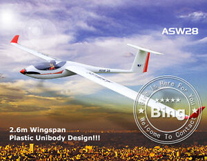 Huge Volantex ASW28 RC 2.6m Unibody Glider Model Airplane KIT Version