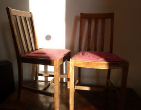 Vintage French country chairs (a pair)