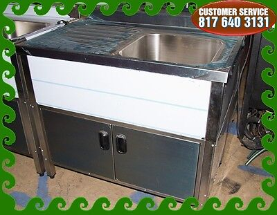 Single Compartment 0 Self Contained Kitchen Sink Wdrain Board