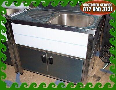 Single Compartment 0 Self Contained Kitchen Sink Wdrain Board