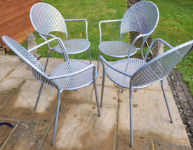 4 metal garden chairs