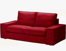 ❤ Ikea Kivik 2-seater Settee COVERS ONLY - Dansbo Red- BRAND NEW ❤