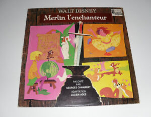vinyl record Disney's Merlin The Sword in the Stone album French