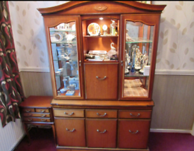 John E Coyle cherrywood dresser with lights