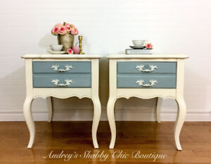 French Country Accent Tables/Bedside Tables