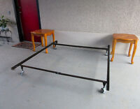 Steel bed frame adjustable for TWIN DOUBLE QUEEN size mattress