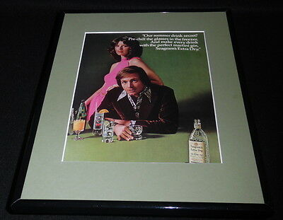 1972 Seagram's Extra Dry Gin 11x14 Framed ORIGINAL Vintage Advertisement B