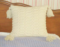 "HAND WOVEN Wool Furniture PILLOW - Detailed pattern - 16"" x 16"""