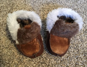 Warm and cozy handmade slippers size 18-24mo