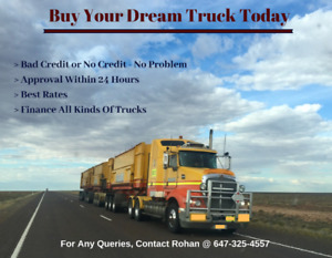 TRUCK LOANS - No Credit or Bad Credit, Get Approval Within A DAY