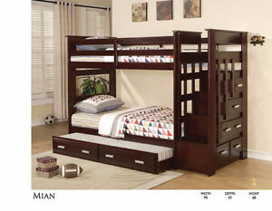 SOLID WOOD STAIR CASE BUNK BED ONLY $799