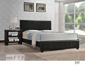 FAUX LEATHER PLATFORM BED ONLY $169 LOWEST PRICES Kitchener / Waterloo Kitchener Area image 1