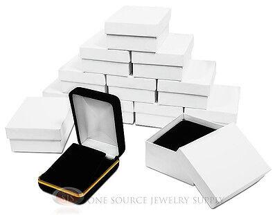 12 Piece Pendant Earring Black Velvet Jewlery Gift Boxes 2 14w X 3d X 1 14h