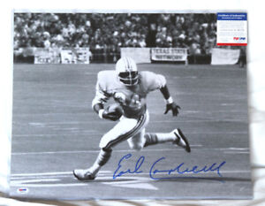 Autographed Earl Campbell 16x20 Photo authenticated by PSA.