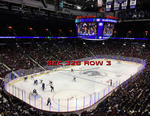 VANCOUVER CANUCKS SEASON TICKETS UPPER CORNERS ROW 3's!