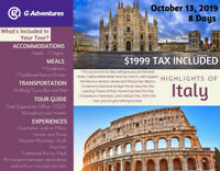 Highlights of Italy - October, 2019