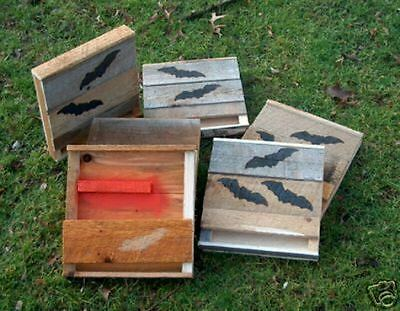 BAT HOUSE.1=ONE FULL ASSEMBLD.4 cub scouts..M.HOLLEY.FIREHARDENED WOOD.LASTS