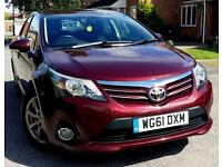 2012 Toyota Avensis 2.0 D-4D T4 4dr LEATHER+SAT NAV+REVERSE CAMERA+LOW MILEAGE