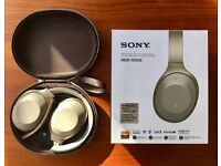 SONY MDR-1000X Wireless Bluetooth Noise-Cancelling Hi-Res Headphones - Beige (Better than Bose QC35)