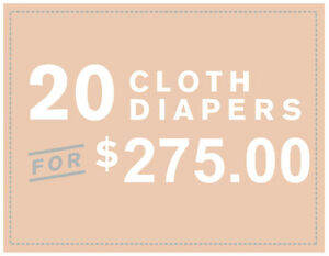 Cloth diaper, 2 years warranty + 2 bamboo inserts