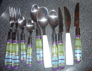 cutlery $ 2, mugs, sundae cups, other kitchen items