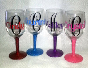 Personalized Wine Glasses - FREE Lights