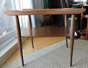 Mid Century Modern Walnut End Table