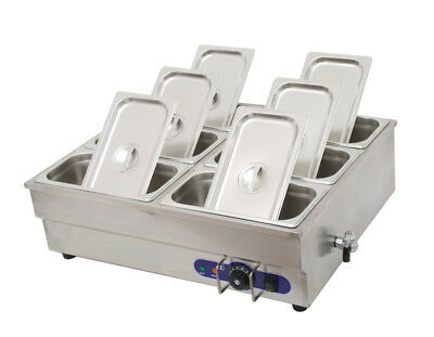 6-pan Bain-marie Buffet Steam Table Food Warmer 110v 1500w