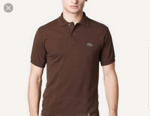Lacoste polo size 7 brown, 9 yellow- like new 50$