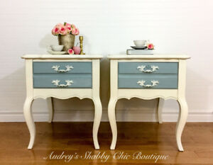 French Country Side Tables/Nightstands