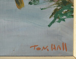 LISTED ARTIST TOM HALL OIL ON BOARD WINTER PAINTING EXCELLENT Gatineau Ottawa / Gatineau Area image 9