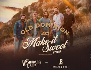 TWO tickets to see Old Dominion, Jason Benoit