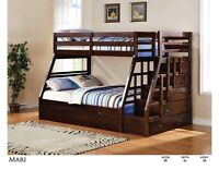 SOLID WOOD STAIR CASE BUNK BED ONLY $899 NO TAX