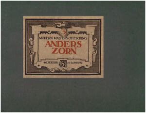 ANDERS ZORN: MODERN MASTERS OF ETCHING Number Three