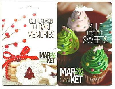 Lot  2 Different Market 32 Gift Cards No Value Collectible Price Chopper Holiday