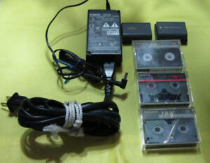 Canon CA-570 Camera Power Adapter / 2 Batteries / 3 Tapes