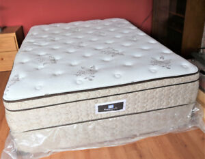 Queen Seally Posturepedic Bed + Bedside Table Delivery