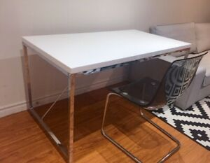 IKEA Nice glossy table with plastic cover and TOBIAS chair,