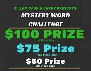 Mystery Word Challenge - Killam Cash & Carry