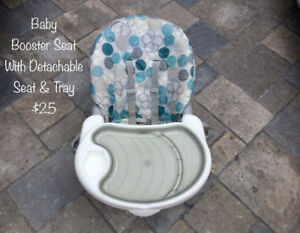 Baby Booster Seat with Detachable  Adjustable Tray
