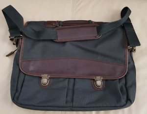 Eddie Bauer cloth briefcase