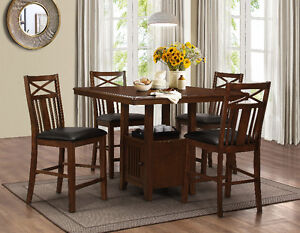BRAND NEW 5PC STORAGE PUB TABLE FOR SALE FOR JUST $599