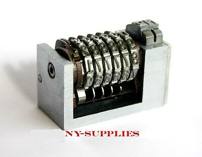 4mm Steel Letterpress Numbering Machine 6 Digits 4x8 Cicero Forward Heidelberg