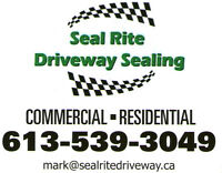 GOOD WEATHER WE CAN SEAL  DRIVEWAY THIS WEEKEND