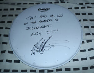 SIGNED Matt Halpern (Periphery) Drum Head