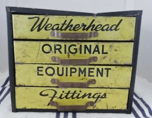COLLECTIBLE WEATHERHEAD EQUIPMENT FITTINGS CABINET