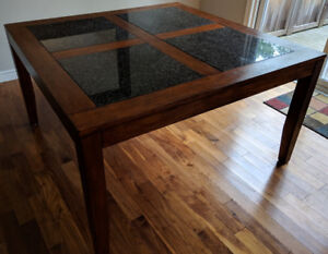 Granite Wooden Dining Table